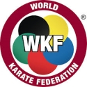 Logo of the World Karate Federation. Visit the site